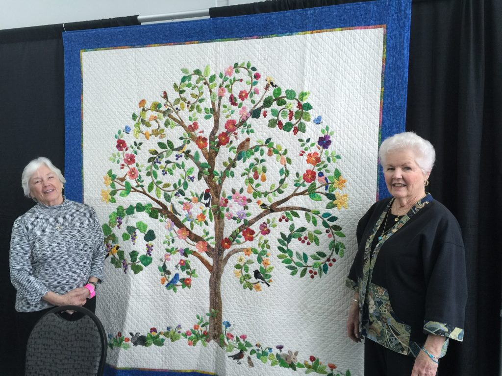 At Road 2016 showing off their Opportunity Quilt