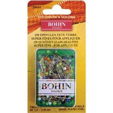 Bohin Glass Head Pins