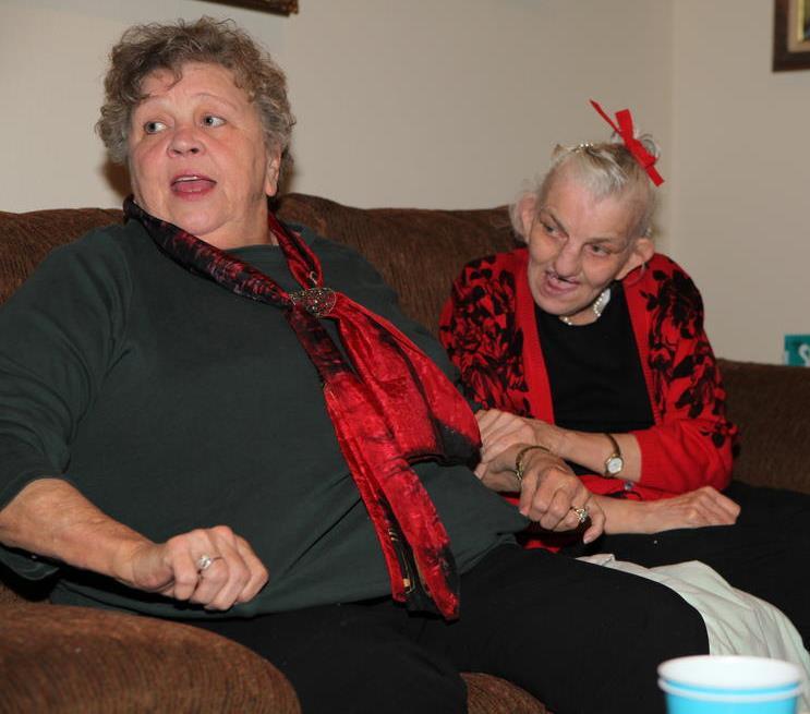 Carolyn and Glenda Christmas