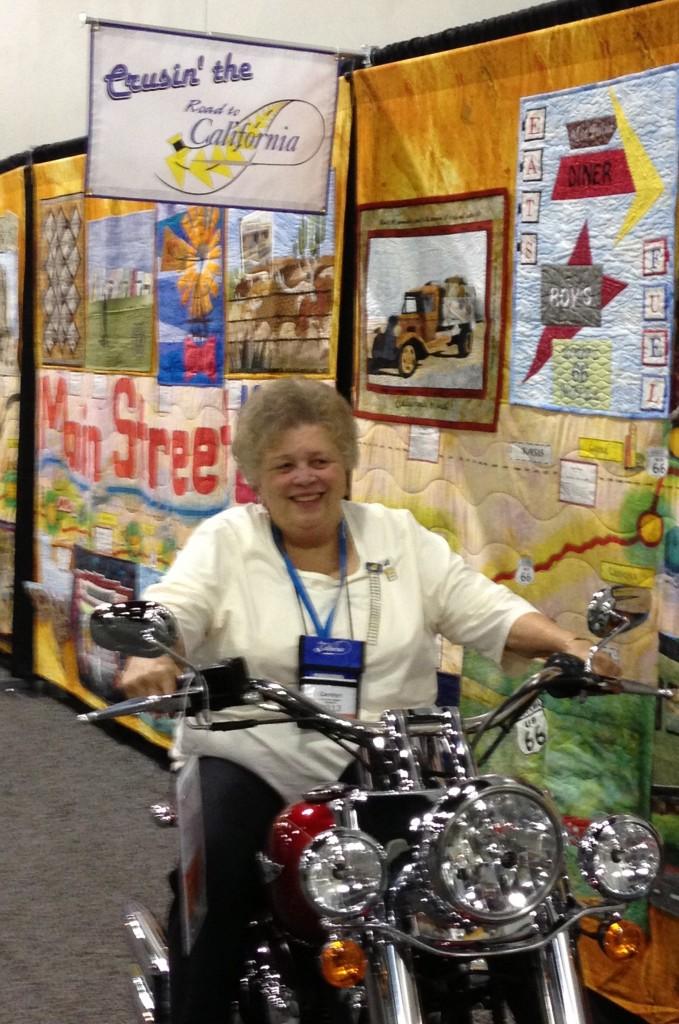 Carolyn on Harley