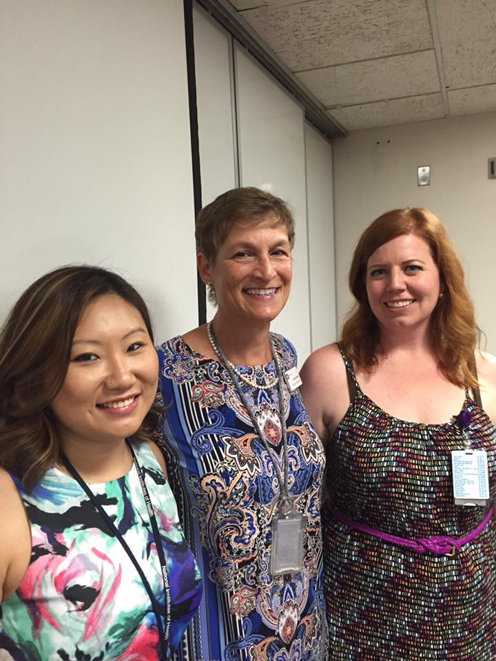 L to R, Kimberly Levy (fellow SBB student), Karen Byrne (DTM/SBB Education Coordinator), and Erika