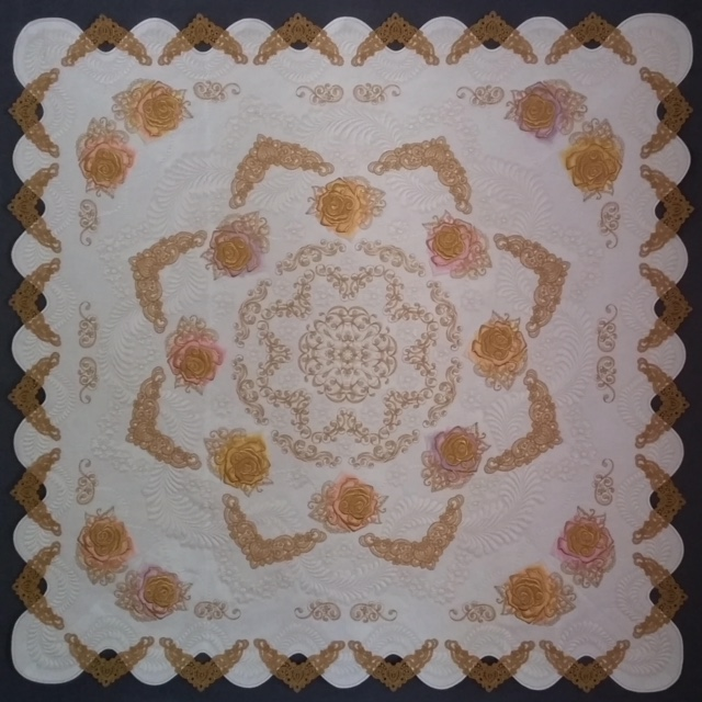 Gilded Roses Winning quilt
