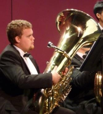Matt Reese with tuba