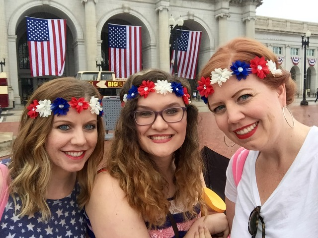 Mary Beth, Rachel, and Erika in Washington, DC